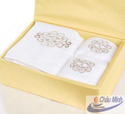 Sét khăn thêu quà tặng