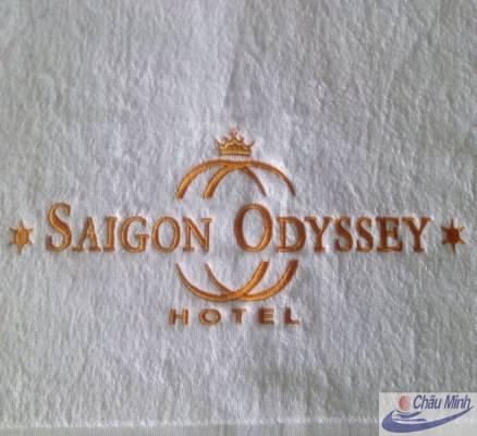 Khăn thêu logo khách sạn Saigon Odysey