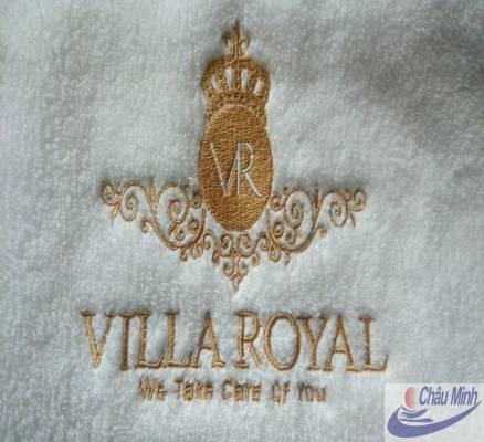 Khăn thêu logo Villa Royal