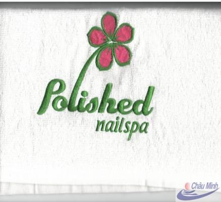 Khăn thêu logo Spa Polished
