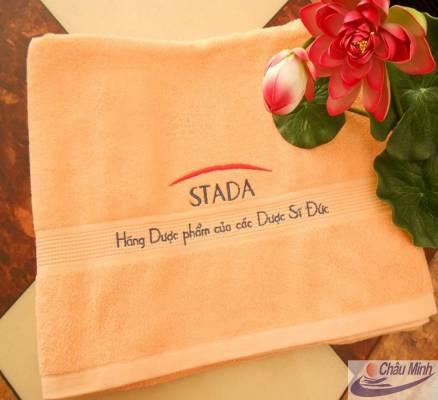 Khăn thêu logo Stada