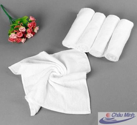 Khăn tay cotton 34x34cm 60gr dùng cho spa, khách sạn.