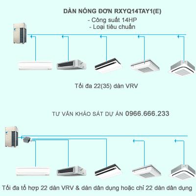 Điều hòa trung tâm Daikin 2 chiều VRV IV RXYQ14TAY1(E) 14HP