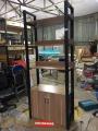 Kệ tủ gỗ trang trí rộng 80 cao 2m mới