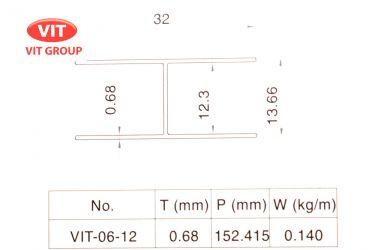 Nhôm vách vệ sinh VIT-0612