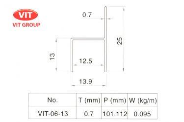 Nhôm vách vệ sinh VIT-0613