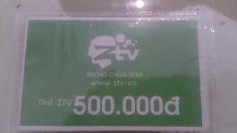 Thẻ ZTV mệnh giá 500k