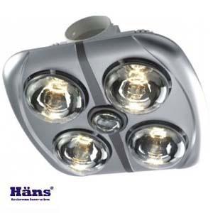 Đèn sưởi nhà tắm Hans 4 bóng âm trần H4B176