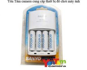 Sac Sanyo MQN06 + 4 pin AA 1900mah - 2100 lần sạc