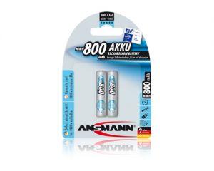 Vỉ 2 viên Pin sạc AAA Ansmann 800mAh