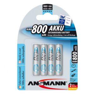 Vỉ 4 viên Pin sạc AAA Ansmann 800mAh