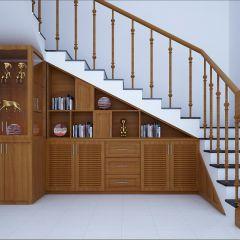 Tủ rượu gầm cầu thang 08