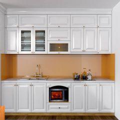 Nội thất tủ bếp màu trắng