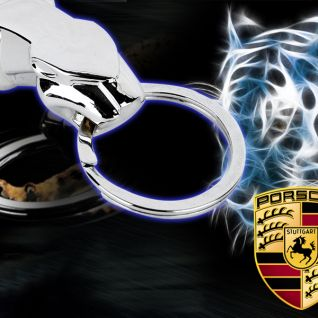 Móc khóa báo Porsche