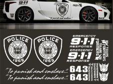 Tem dán thể thao ô tô police