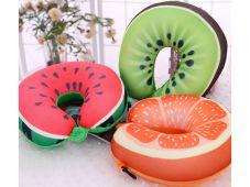 Gối ngủ chữ U hình trái cây 3D