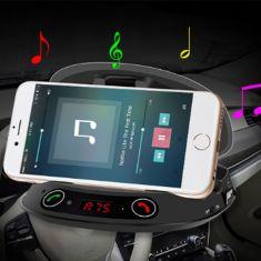 Mp3 bluetooth kiêm giá đỡ điện thoại đặt taplo
