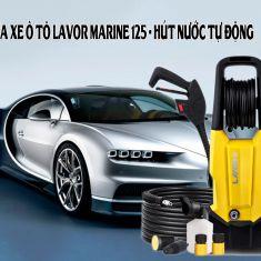 Máy rửa xe ô tô LAVOR MARINE 125 hút nước tự động - Hàng nhập khẩu