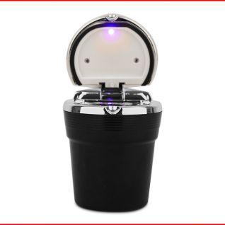 Gạt tàn thuốc lá có đèn LED (Đen)