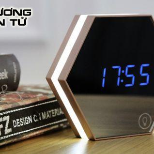Đồng hồ gương để bàn điện tử thông minh