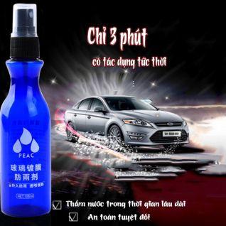 Bình xịt nano chống nước trên gương kính ô tô