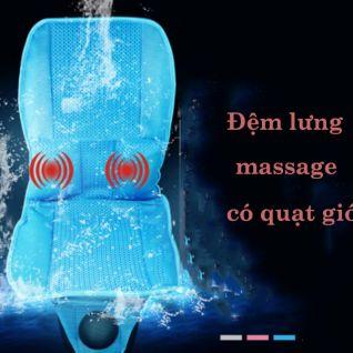 Đệm massage ô tô có quạt gió