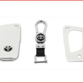 Ốp vỏ chìa khóa Toyota 02 (Trắng)