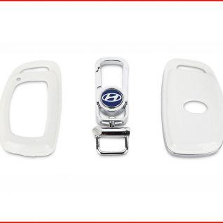 Ốp vỏ chìa khóa xe Hyundai (Trắng)