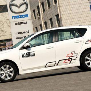 Tem dán thể thao thân xe WRC mã 07 - đen