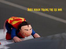 Trang trí ô tô hình siêu nhân