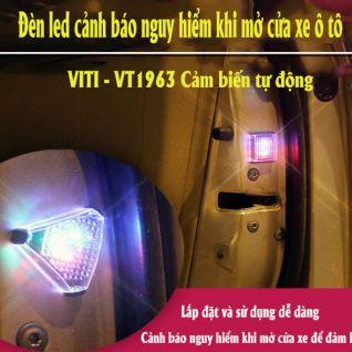 Bộ 2 đèn led cảnh báo nguy hiểm khi mở cửa ô tô VITI - VT0963 cảm biến tự động