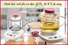 Bình thủy tinh pha trà điện YSH-A03C5  đa năng