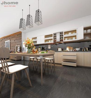 Tủ bếp gỗ Laminate – Nội thất Jhome