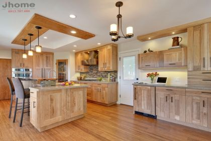 Tủ bếp gỗ Sồi Mỹ - Nội thất Jhome