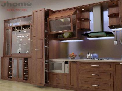 Tủ bếp gỗ Giáng Hương- Nội thất Jhome