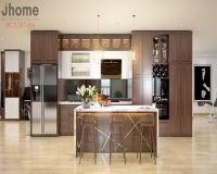 Thiết kế nội thất phòng bếp chung cư Mipec Long Biên - Nội thất Jhome