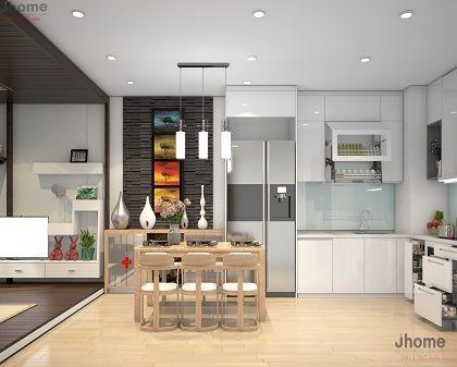 Thiết kế nội thất phòng bếp chung cư Park Hill - Nội thất Jhome