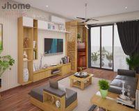Thiết kế nội thất phòng khách chung cư VP2 Linh Đàm - Nội thất Jhome