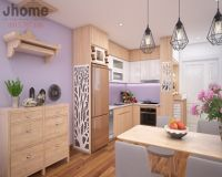 Thiết kế nội thất phòng bếp chung cư Home City - Nội thất Jhome