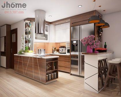 Thiết kế nội thất phòng bếp chung cư Ellipse Tower - Nội thất Jhome