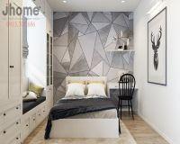 Thiết kế nội thất phòng ngủ con gái chung cư Golden West - Nội thất Jhome