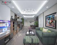 Thiết kế nội thất phòng khách chung cư Ecolife Capitol - Nội thất Jhome