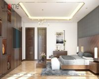 Thiết kế nội thất phòng ngủ master, phòng thay đồ biệt thự Vinhomes - Nội thất Jhome