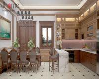 Thiết kế nội thất phòng bếp biệt thự tân cổ điển ở Hải Phòng - Nội thất Jhome