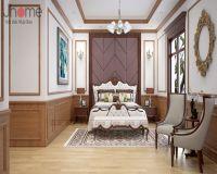 Thiết kế nội thất phòng ngủ master biệt thự tân cổ điển ở Hải Phòng - Nội thất Jhome