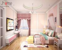 Thiết kế nội thất phòng ngủ bé gái biệt thự tân cổ điển ở Hải Phòng - Nội thất Jhome