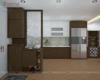 Thiết kế nội thất phòng khách + bếp chung cư HH2B Linh Đàm - Nội thất Jhome