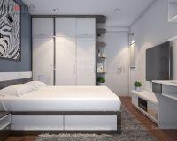 Thiết kế nội thất phòng ngủ chung cư HH2B Linh Đàm - Nội thất Jhome