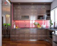 Thiết kế nội thất phòng bếp chung cư Capital Garden nhà chị Dung - Nội thất Jhome