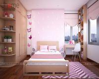 Thiết kế nội thất phòng ngủ con gái chung cư nhà chị Dung Capital Garden - Nội thất Jhome